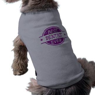 El mejor dentista siempre púrpura camisetas de perrito