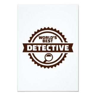 """El mejor detective del mundo invitación 3.5"""" x 5"""""""