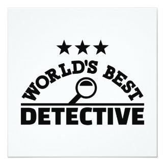 """El mejor detective del mundo invitación 5.25"""" x 5.25"""""""