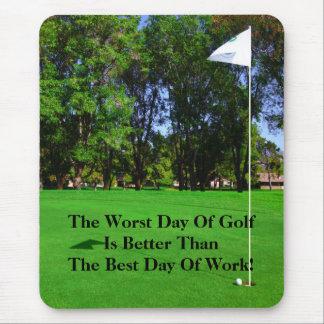 El mejor día de golf Mousepad Alfombrillas De Ratón