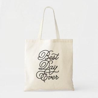 El mejor día nunca bolsa tela barata