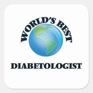 El mejor Diabetologist del mundo Pegatinas Cuadradas