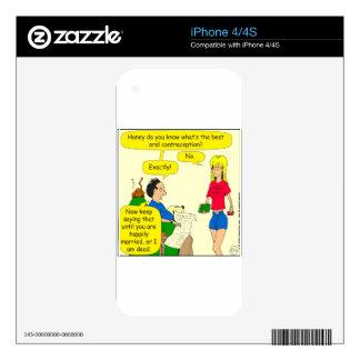 el mejor dibujo animado oral de la contracepción calcomanías para iPhone 4S