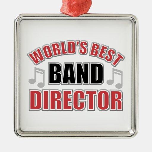 El mejor director Christmas Ornament de la banda Adorno Navideño Cuadrado De Metal