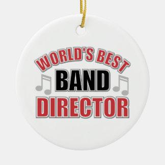 El mejor director Christmas Ornament de la banda Adorno Navideño Redondo De Cerámica