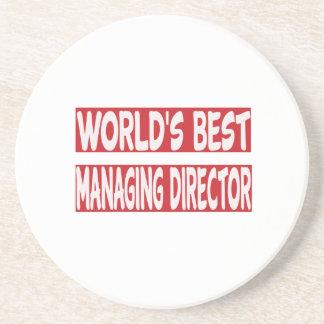 El mejor director de gerente del mundo posavasos de arenisca