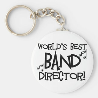 El mejor director de la banda del mundo llavero redondo tipo pin
