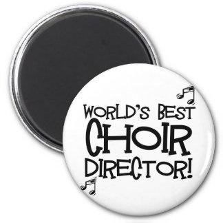 El mejor director del coro del mundo imán redondo 5 cm