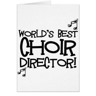 El mejor director del coro del mundo tarjeta de felicitación