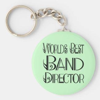 El mejor director Keychain de la banda del mundo Llavero Redondo Tipo Pin