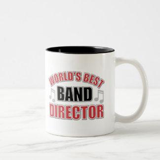 El mejor director Mug de la banda del mundo Taza De Dos Tonos