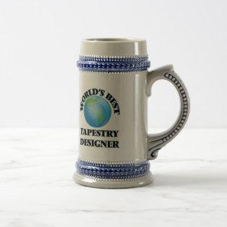 El mejor diseñador de la tapicería del mundo jarra de cerveza