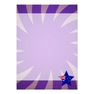 """El mejor diseño de la bandera de Australia Invitación 5"""" X 7"""""""