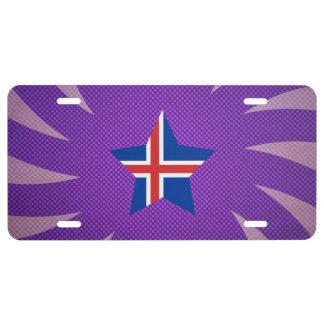 El mejor diseño de la bandera de Islandia Placa De Matrícula