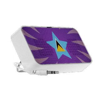 El mejor diseño de la bandera de la Santa Lucía Altavoz De Viaje