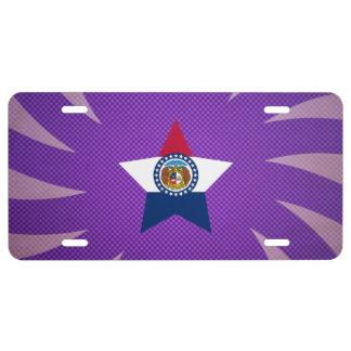 El mejor diseño de la bandera de Missouri Placa De Matrícula