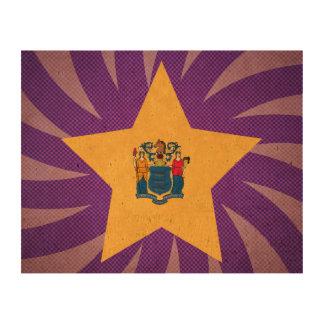 El mejor diseño de la bandera de New Jersey Impresiones En Corcho