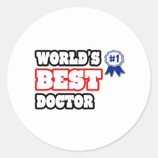 El mejor doctor del mundo pegatina redonda