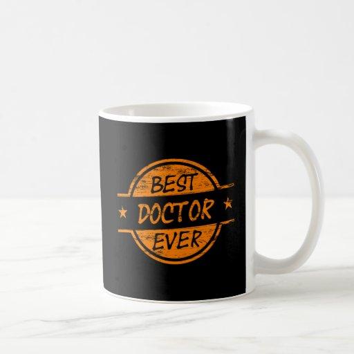 El mejor doctor Ever Orange Taza