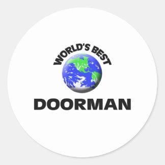 El mejor Doorman del mundo Etiquetas Redondas
