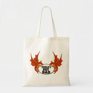 El mejor dragón del papá de los mundos en accesori bolsas