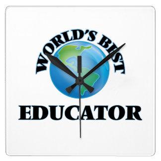 El mejor educador del mundo relojes de pared