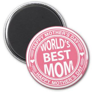 El mejor efecto del sello de goma de la mamá del m imán redondo 5 cm