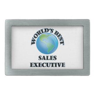 El mejor ejecutivo de las ventas del mundo hebilla de cinturon rectangular