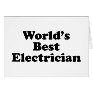 El mejor electricista del mundo tarjeta de felicitación