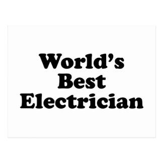 El mejor electricista del mundo tarjeta postal