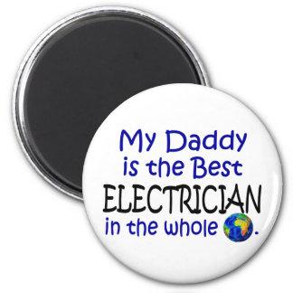 El mejor electricista en el mundo (papá) imán redondo 5 cm