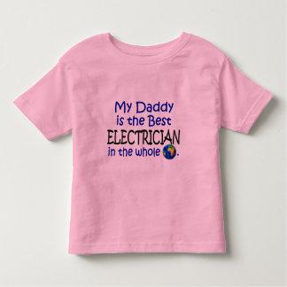 El mejor electricista en el mundo (papá) playera de niño