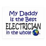 El mejor electricista en el mundo (papá) tarjeta postal
