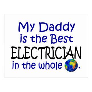 El mejor electricista en el mundo (papá) tarjetas postales