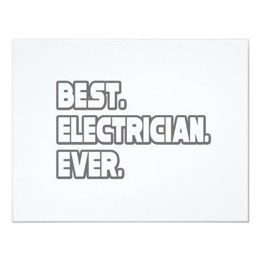 El mejor electricista nunca invitación 10,8 x 13,9 cm