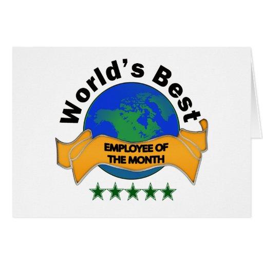 El mejor empleado del mundo del mes tarjeta de felicitación
