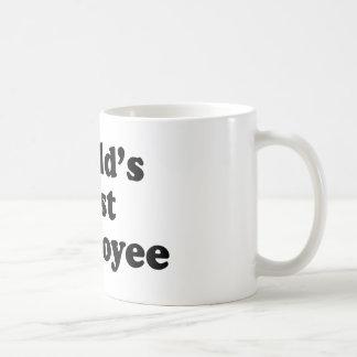 El mejor empleado del mundo taza básica blanca