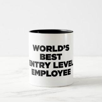 El mejor empleado del nivel de la entrada del taza de dos tonos