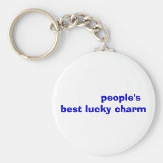 el mejor encanto afortunado de la gente llaveros personalizados