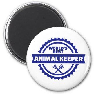 El mejor encargado animal del mundo imán redondo 5 cm