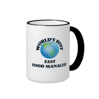 El mejor encargado de los alimentos de preparación taza de café