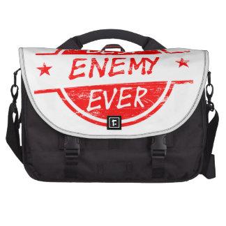 El mejor enemigo siempre rojo bolsa de ordenador