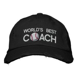 El mejor entrenador de béisbol de los mundos gorra de beisbol