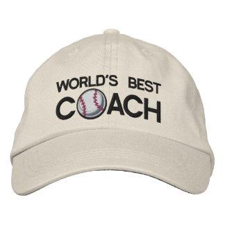 El mejor entrenador de béisbol de los mundos gorras de béisbol bordadas
