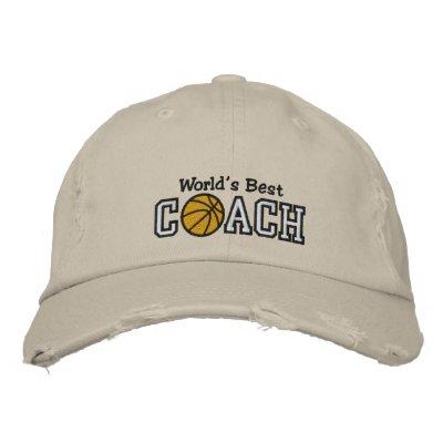El mejor entrenador de béisbol del mundo gorra de béisbol bordada