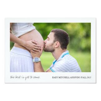 El mejor es todavía venir invitación del embarazo