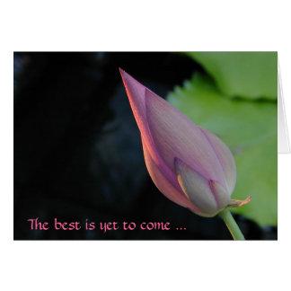 El mejor es todavía venir - loto tarjeta de felicitación