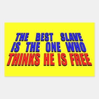 El mejor esclavo pegatina rectangular