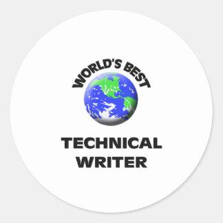 El mejor escritor técnico del mundo pegatinas