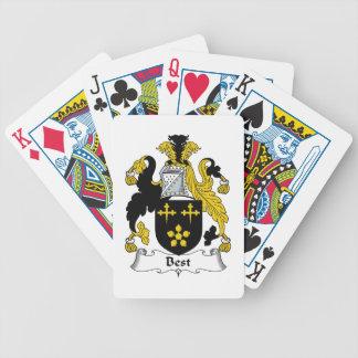 El mejor escudo de la familia cartas de juego